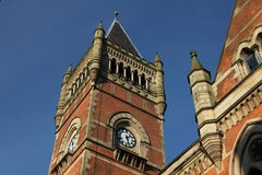 Historic building in Manchester - detail. Clock tower of Crown Court in Manchester Stock Image