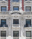 Historic building in Manhattan. Historic building in with columned balconies Royalty Free Stock Photography
