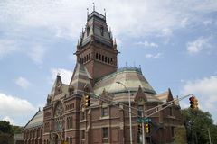 Historic building  Memorial hall in Harvard university Stock Image