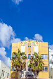 Historic building in Miami's Art Deco district Royalty Free Stock Image
