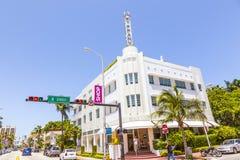 Historic building in Miami's Art Deco district Stock Image