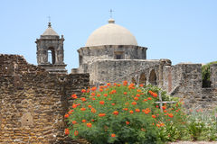 A historic building Mission. In San antonio, Texas, usa Royalty Free Stock Photo