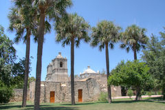 Historic building mission concepcion. Old building mission concepcion in San Antonio, Texas Royalty Free Stock Images