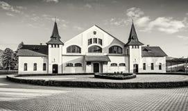 Historic building of national stud farm, Topolcianky, colorless. Historic building of national stud farm, Topolcianky, Slovak republic. Architectural theme royalty free stock photos