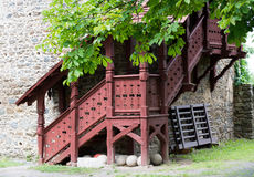 Historic building near the South Bohemian town. Historic gothic castle in the South Czech republic Stock Photos
