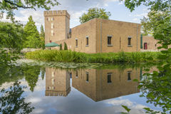 Historic building in Netherland.Castle. Historic building in Netherland on water reflection Stock Photos