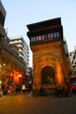 Historic Building Old Cairo at Night, Egypt Stock Image