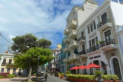 Historic building in Old San Juan, Puerto Rico Royalty Free Stock Images