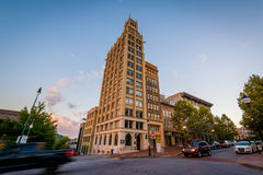 Historic building at Pack Square, in Asheville, North Carolina. Royalty Free Stock Photography
