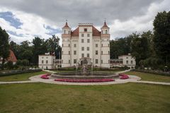 Historic building of Palace Wojanow. Royalty Free Stock Images