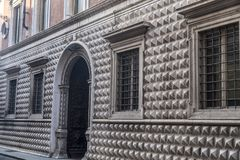 Historic building in Piacenza, Italy Royalty Free Stock Images