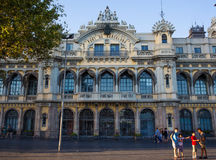 Historic building of Port de Barcelona, Spain Stock Photos