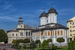 Historic building in the Prefecture Square  on September 25, 2020 in Targu-Jiu.
