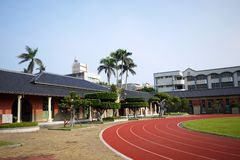 Historic building primary schools. In Taiwan Stock Images