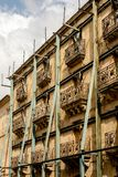 Historic Building Restoration in Salamanca, Spain royalty free stock image