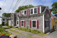 Historic Building in Rockport, Massachusetts Stock Photos