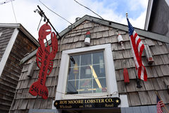 Historic Building in Rockport, Massachusetts Stock Photography