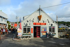 Historic Building in Rockport, Massachusetts Stock Photos