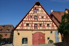 Historic building in Rothenburg ob der Tauber, Germany Royalty Free Stock Image
