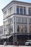 Historic building at The San Diego's Gaslamp Quarter Royalty Free Stock Photo