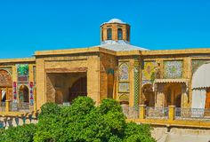 Historic building of Saraye Moshir Bazaar, Shiraz, Iran. SHIRAZ, IRAN - OCTOBER 14, 2017: Enjoy scenic building of Saraye Moshir Bazaar with extant tile decors stock images