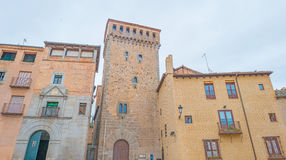 Historic building in Segovia stock images