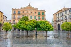 Historic building in Segovia stock photo