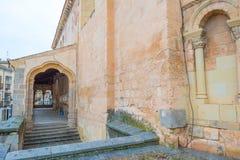Historic building in Segovia stock image