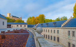 Historic building in Segovia stock photography