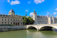 Historic building on the Seine river - Paris, France Stock Photos