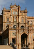 Historic building in Seville. Exterior of historic building in city of Seville, Spain Stock Photography