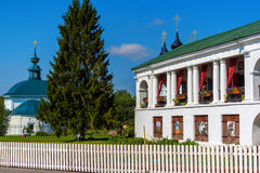 Historic building shopping malls in Suzdal Royalty Free Stock Image