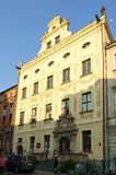 Historic building is situated in old town in Torun, Poland. Royalty Free Stock Image
