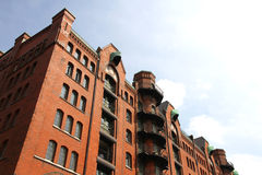 Historic building in the Speicherstadt in Hamburg Stock Photography