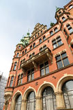 Historic building in the Speicherstadt in Hamburg Royalty Free Stock Images