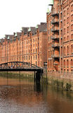 Historic building in the Speicherstadt in Hamburg Stock Images