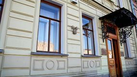 Historic building in St. Petersburg stock video footage