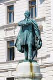Historic building and statue Kossuth Lajos in Pecs Stock Photo