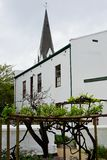 Historic Building, Stellenbosch, South Africa. Historic Building in Stellenbosch, South Africa. Cape Dutch architecture gives a sense of South Africa`s Dutch royalty free stock images