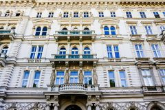 Historic building on a street in Vienna Royalty Free Stock Images