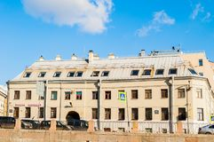 Historic building in the style of classicism, built in the late 18th century. Historic landmark of St Petersburg, Russia. ST PETERSBURG, RUSSIA-OCTOBER 3, 2016 Royalty Free Stock Photo