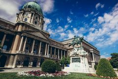 Historic building in summer - countryard at Buda Castle Royal Palace in Budapest, Hungary. Stock Image