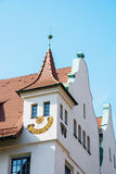 Historic building with the sundial Royalty Free Stock Photo