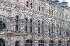 Historic building under construction. Surrounded by scaffolding Royalty Free Stock Photography