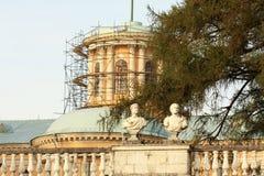 Historic building under restoration Royalty Free Stock Photos