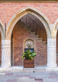 Historic building of university. Detail in  courtyard of one of the worlds oldest universities. Collegium Maius is a historic part of the Jagiellonian University Stock Photo