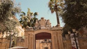 Historic building in Valletta, Malta stock video footage