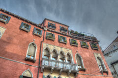 Historic building in Venice under a dramatic sky Royalty Free Stock Photography