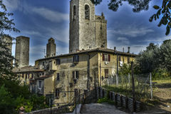 Historic building. In voltera todcany italy Stock Photography