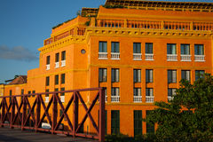 Historic building at the walled city in Cartagena Stock Photos